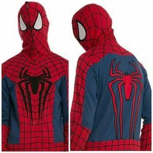 MARVEL SPIDER-MAN Mask Costume Hoodie Sweatshirt S